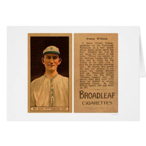 Owen Wilson Pirates Baseball 1912 Greeting Card