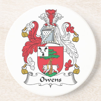 Owens Family Crest Beverage Coasters