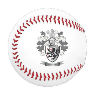 Owens Family Crest Coat of Arms Baseball