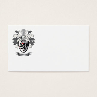Owens Family Crest Coat of Arms Business Card