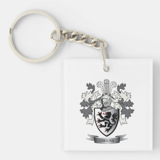 Owens Family Crest Coat of Arms Keychain