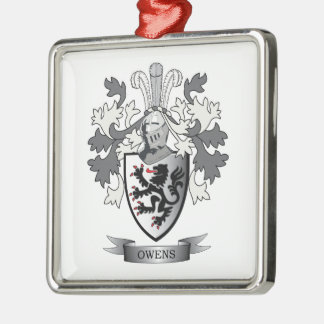 Owens Family Crest Coat of Arms Metal Ornament