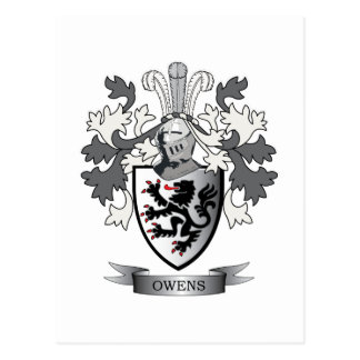 Owens Family Crest Coat of Arms Postcard