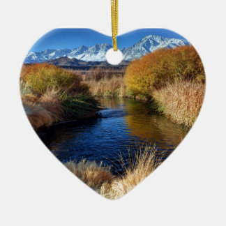 Owens River And Eastern Sierra Nevada Mountains Ceramic Ornament
