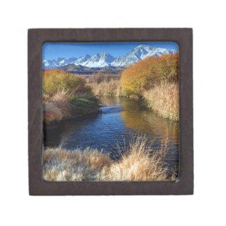 Owens River And Eastern Sierra Nevada Mountains Keepsake Box