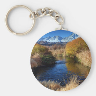 Owens River And Eastern Sierra Nevada Mountains Keychain
