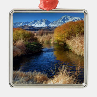 Owens River And Eastern Sierra Nevada Mountains Metal Ornament