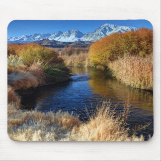 Owens River And Eastern Sierra Nevada Mountains Mouse Pad