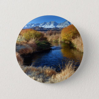 Owens River And Eastern Sierra Nevada Mountains Pinback Button