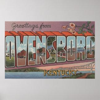 Owensboro, Kentucky - escenas grandes de la letra Impresiones