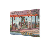 Owensboro, Kentucky - Large Letter Scenes Canvas Print