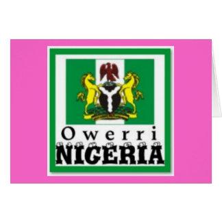 """OWERRI"",IMO STATE, NIGERIA(T-Shirt And etc) Card"
