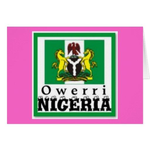 """""""OWERRI"""", la OMI INDICA, NIGERIA (camiseta y los e Felicitacion"""