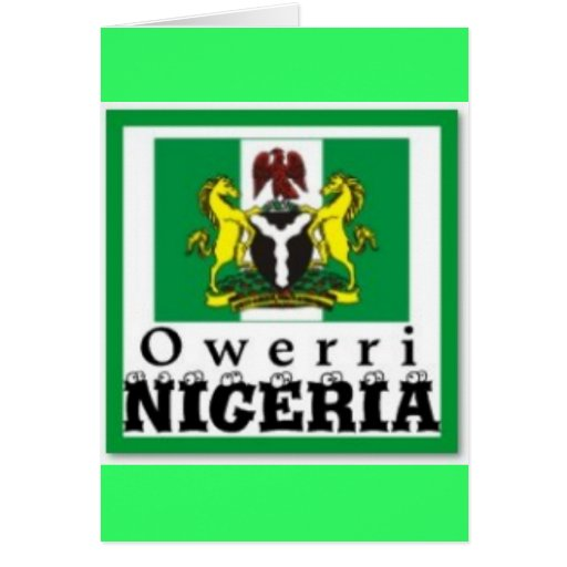 """OWERRI"", la OMI INDICA, NIGERIA (camiseta y los e Tarjeta"