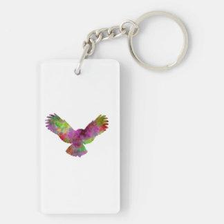 Owl 02 in watercolor keychain