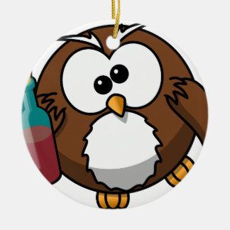 owl-158415.png adorno navideño redondo de cerámica