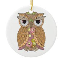 Owl 1 ceramic ornament