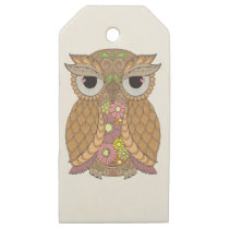 Owl 1 wooden gift tags