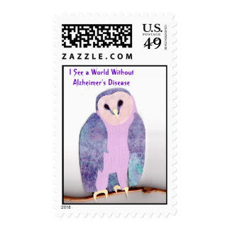 Owl 1a Sees a World Postage Stamp
