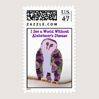 Owl 1b sees a world without Alzheimer's Postage