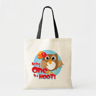Owl 1st Birthday Tote Bag