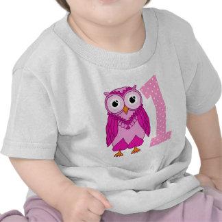 Owl 1st Birthday Shirt