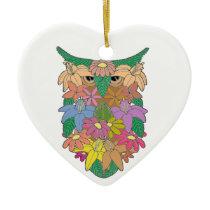 Owl 2 ceramic ornament