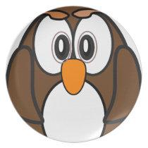 owl #2 melamine plate