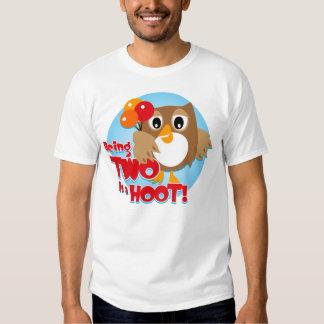 Owl 2nd Birthday T Shirt
