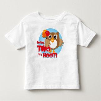 Owl 2nd Birthday Toddler T-shirt