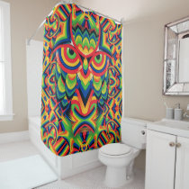 Owl 3 shower curtain