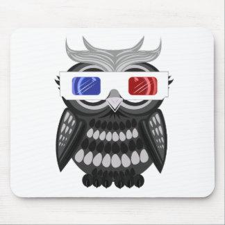 Owl - 3D Glasses Mouse Pad