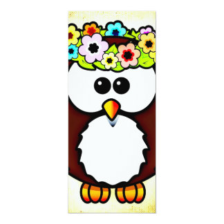 Owl 4x9.25 Paper Invitation Card
