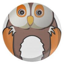 Owl #5 melamine plate