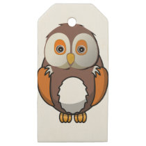 Owl #5 wooden gift tags