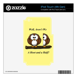 Owl A Hoot and a Half Decal For iPod Touch 4G