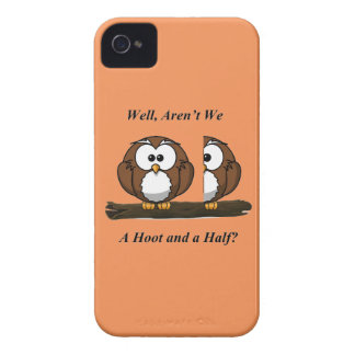 Owl A Hoot and a Half iPhone 4 Case