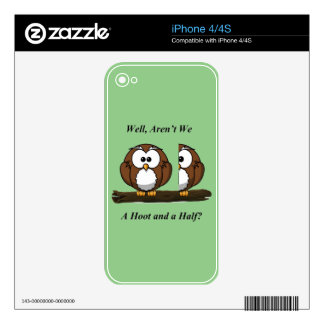 Owl A Hoot and a Half iPhone 4S Decals