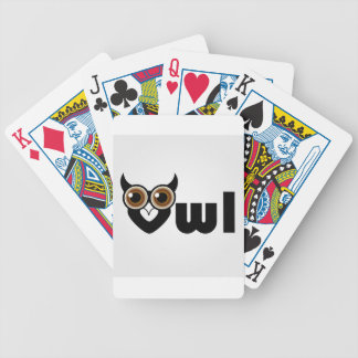 Owl- a symbol of wisdom bicycle playing cards