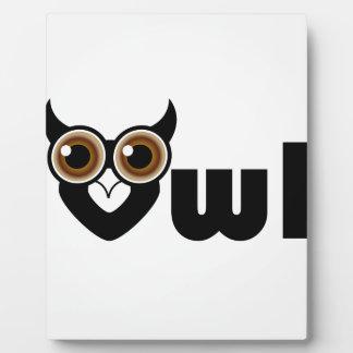 Owl- a symbol of wisdom plaque