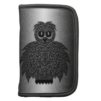 Owl abstract black folio planner