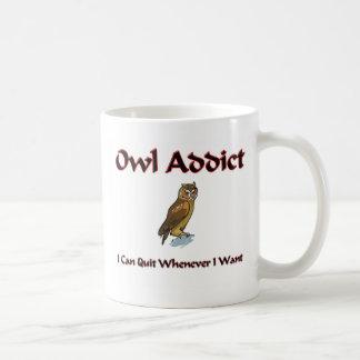 Owl Addict Classic White Coffee Mug