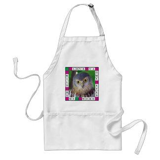 Owl-alishush Adult Apron