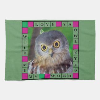 Owl-alishush Hand Towels