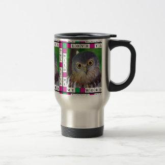 Owl-alishush 15 Oz Stainless Steel Travel Mug
