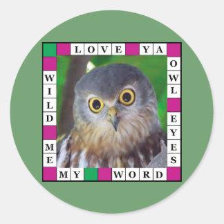 Owl-alishush Classic Round Sticker