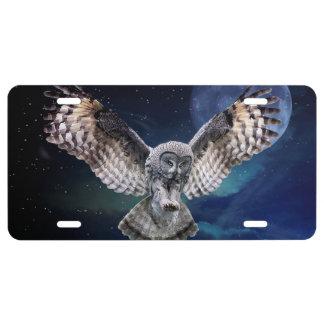 Owl Aluminium License Plate