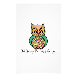 Owl Always Be There Custom Stationery