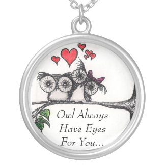 Owl Always Have Eyes For You - Sterling Silver nec Necklace