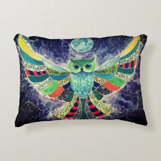 Owl always look out for you throw pillow